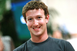 PALO ALTO, CA - AUGUST 18: Facebook founder and CEO Mark Zuckerberg smiles before speaking at a news conference at Facebook headquarters August 18, 2010 in Palo Alto, California. Zuckerberg announced the launch of Facebook Places, a new application that allows Facebook users to document places they have visited. (Photo by Justin Sullivan/Getty Images) *** Local Caption *** Mark Zuckerberg