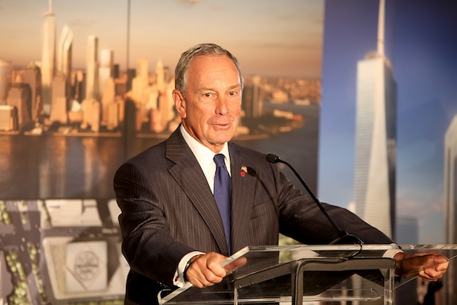 New York City Mayor Michael Bloomberg attends a press conference about the World Trade Center site, where officials provided an update on the rebuilding efforts as the ninth anniversary of the 9/11 terror attacks approaches New York City, USA - 07.09.10 Mandatory Credit: PNP/WENN.com